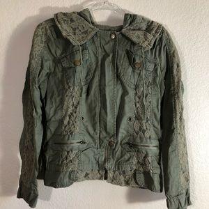 2b Bebe olive green light jacket